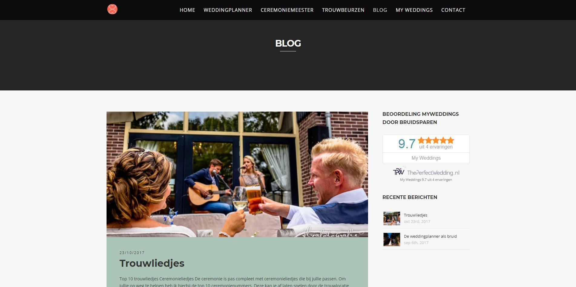 My Weddings website SEO optimalisatie