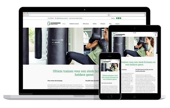 responsive wordpress website voor kickboks school