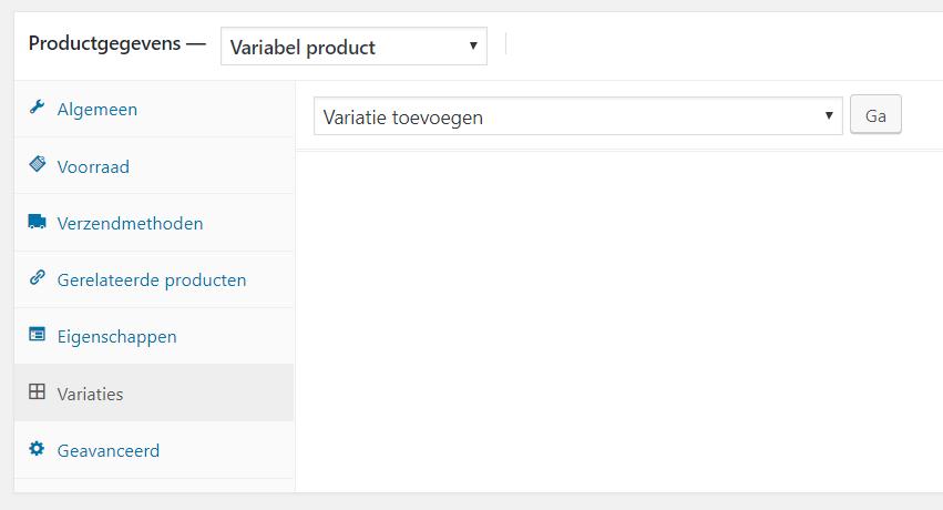een variabel product toevoegen in een woocommerce webshop