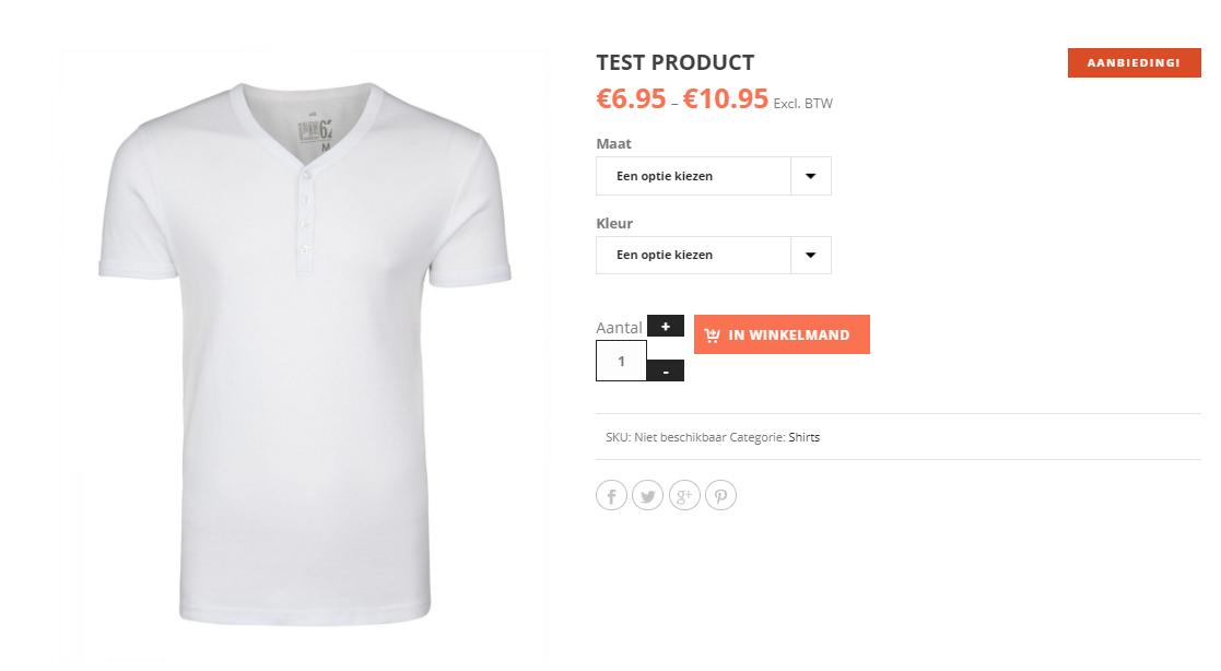 Een product met product opties toevoegen in een woocommerce webshop