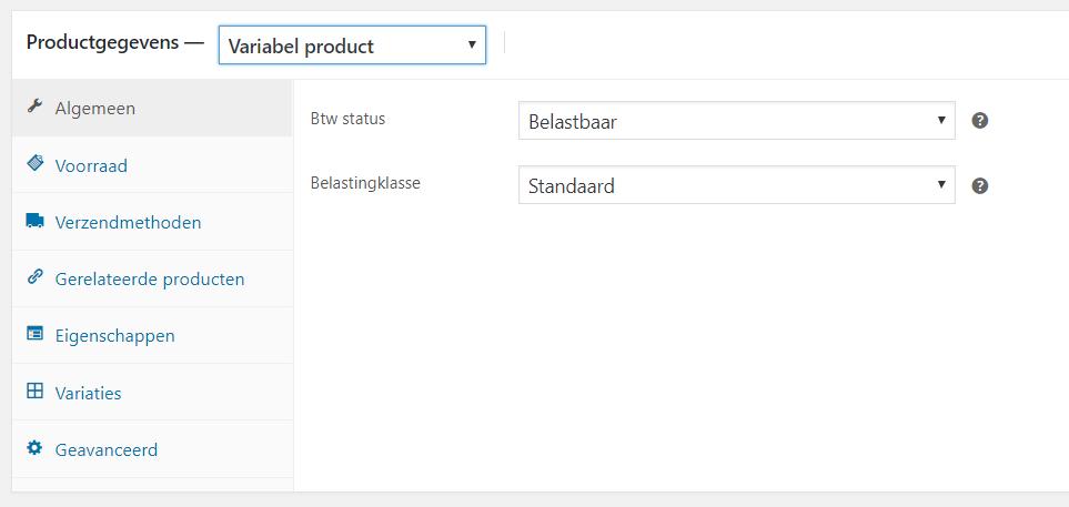 Een product met variabelen toevoegen in WooCommerce
