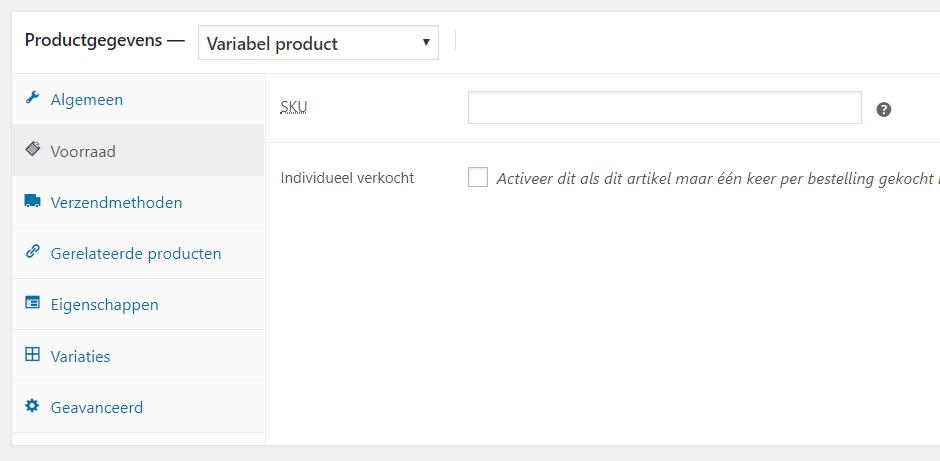 Een product met diverse opties toevoegen in WooCommerce