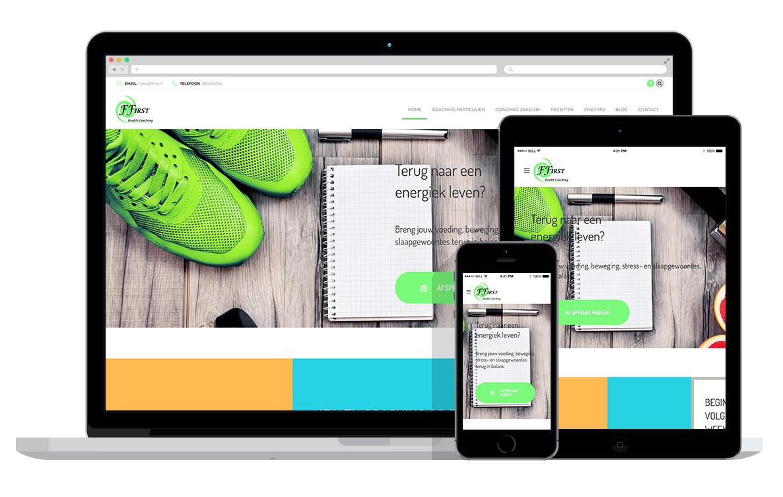 responsive website voor voedingscoach