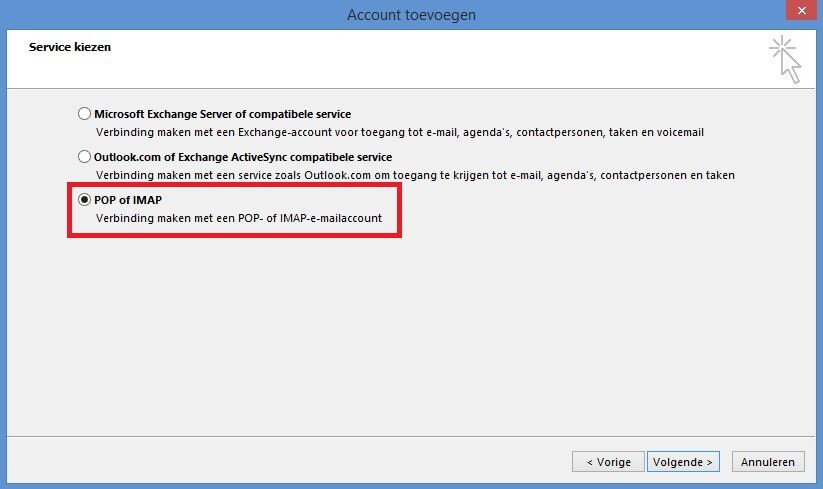 Email account instellen in Outlook