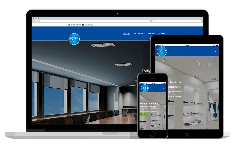 responsive website voor verlichtingsspecialist
