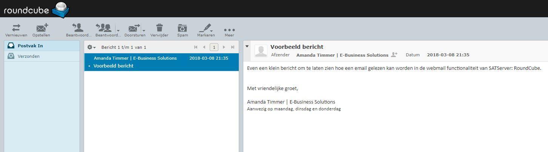Email lezen in de webmail roundcube