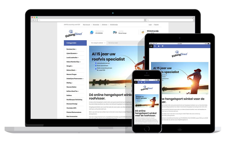 responsive woocommerce webshop voor online hengelsport webshop