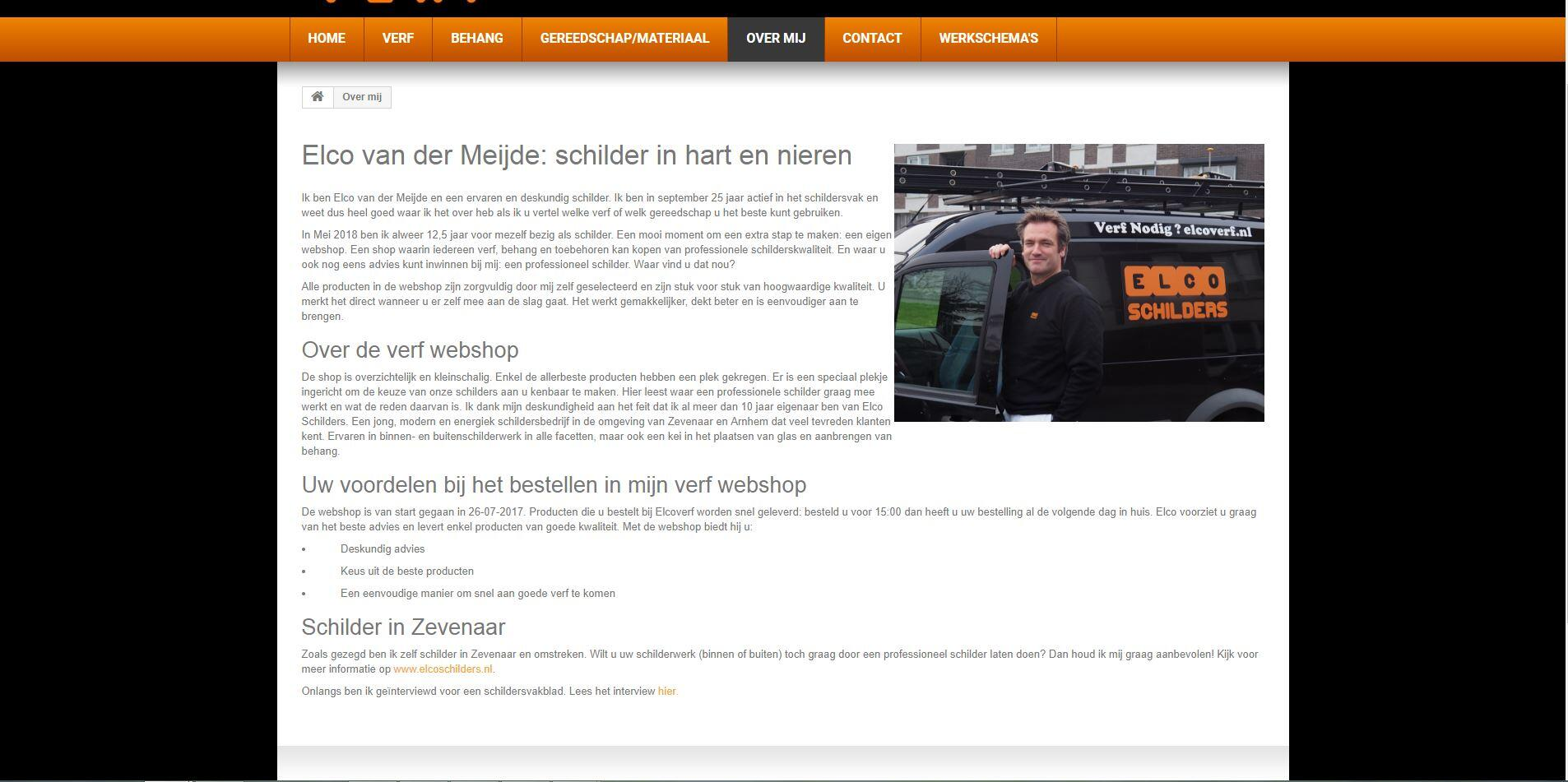 over ons pagina