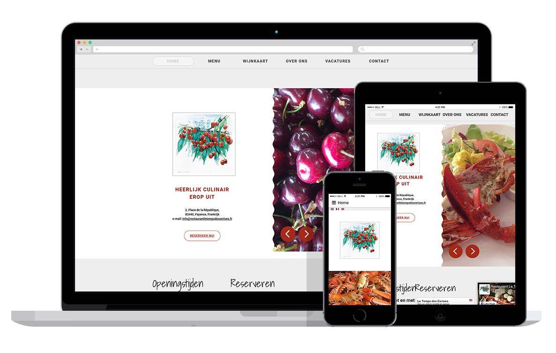 responsive website voor restaurant