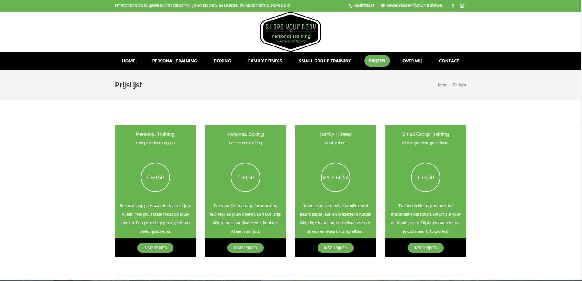 Sportwebsite in WordPress laten maken