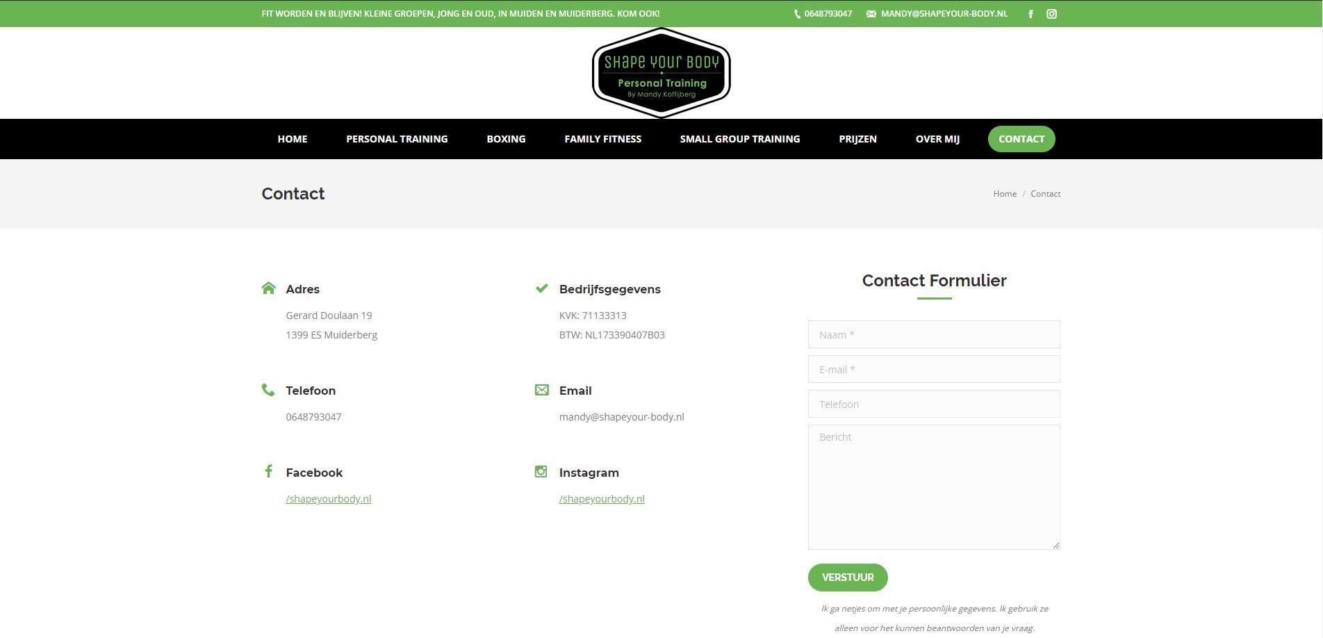 Kickboxing website in WordPress laten maken