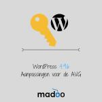 WordPress 4.9.6 - Aanpassingen voor de AVG