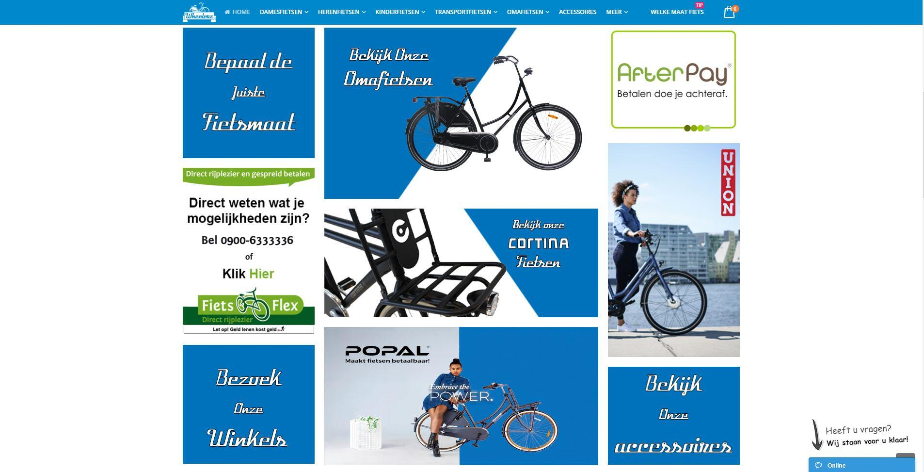 Wheelerz fietsen webshop Amsterdam