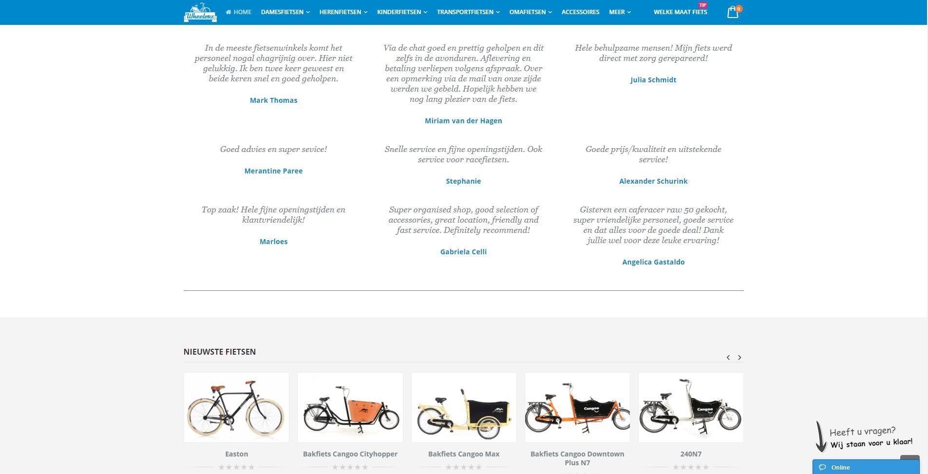 Wheelerz WooCommerce webshop
