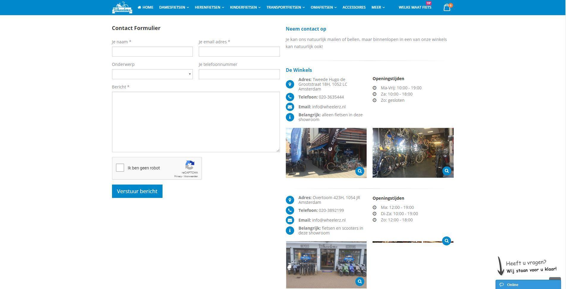 Fietsenwinkel webshop Amsterdam