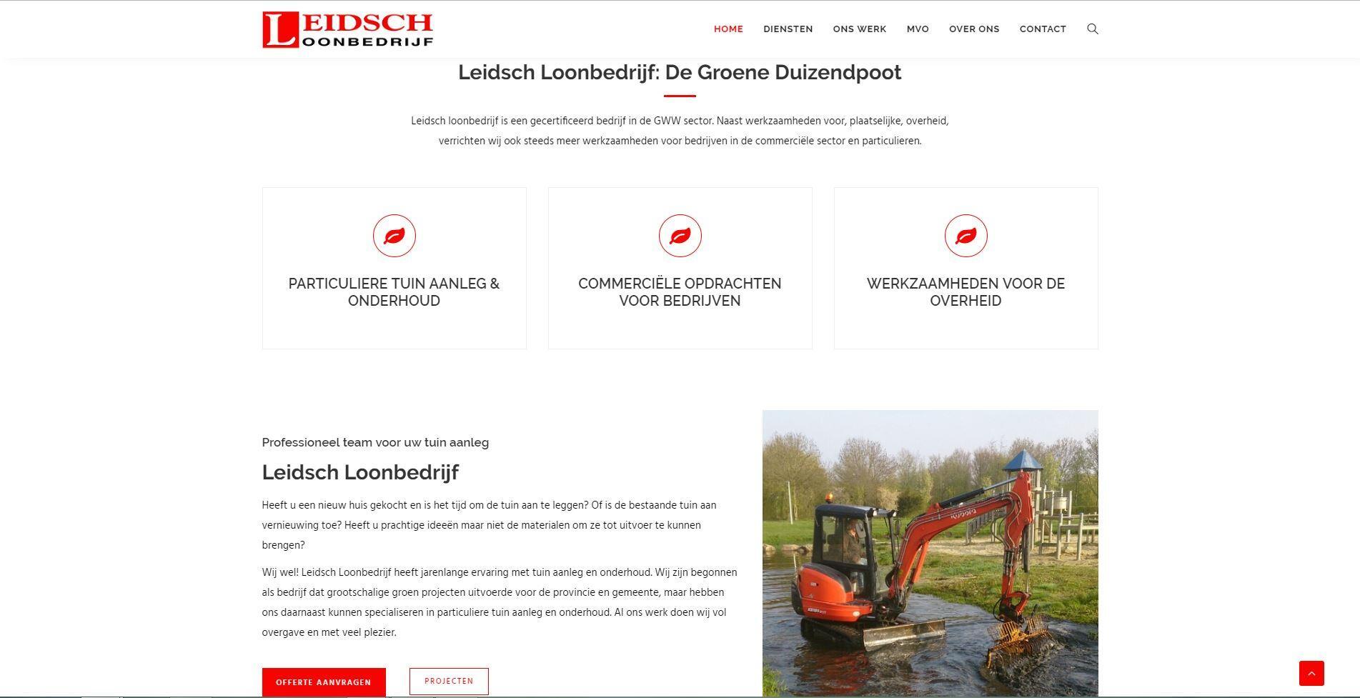 website voor loonbedrijf