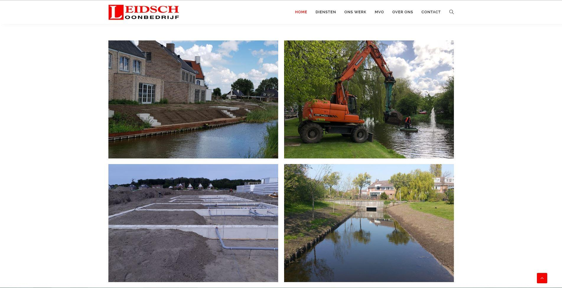website voor loonbedrijf uit Leiden