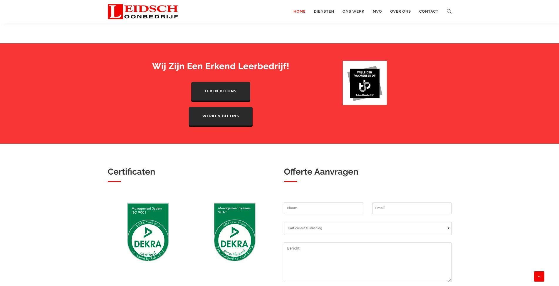Loonbedrijf website