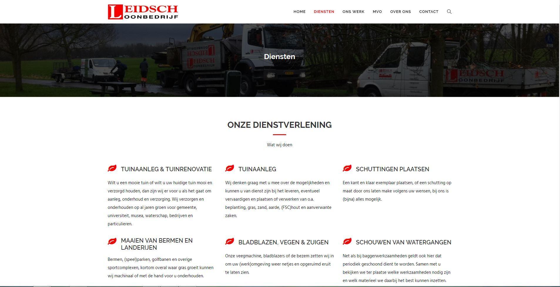 Leidsch Loonbedrijf website