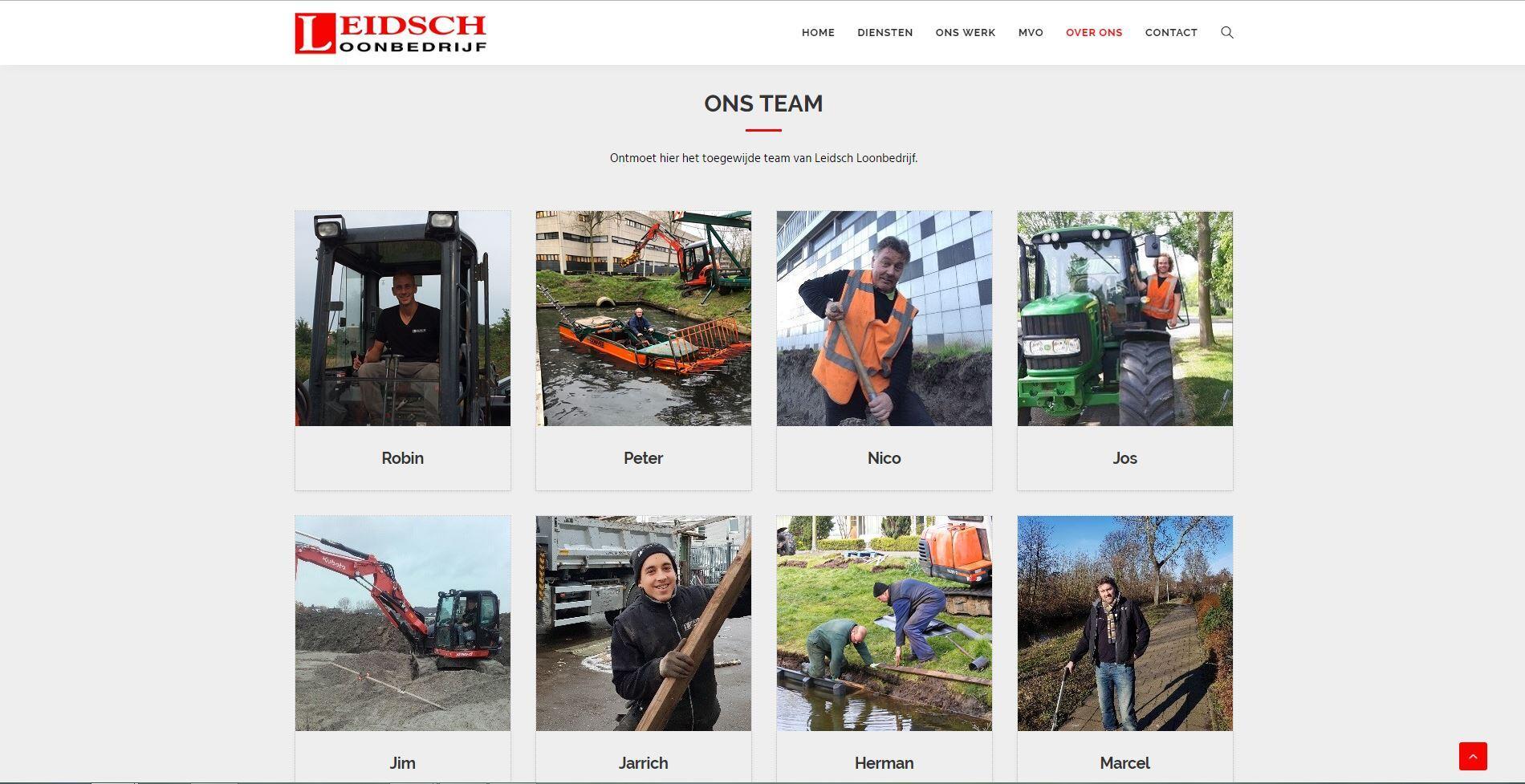 website voor loon bedrijf