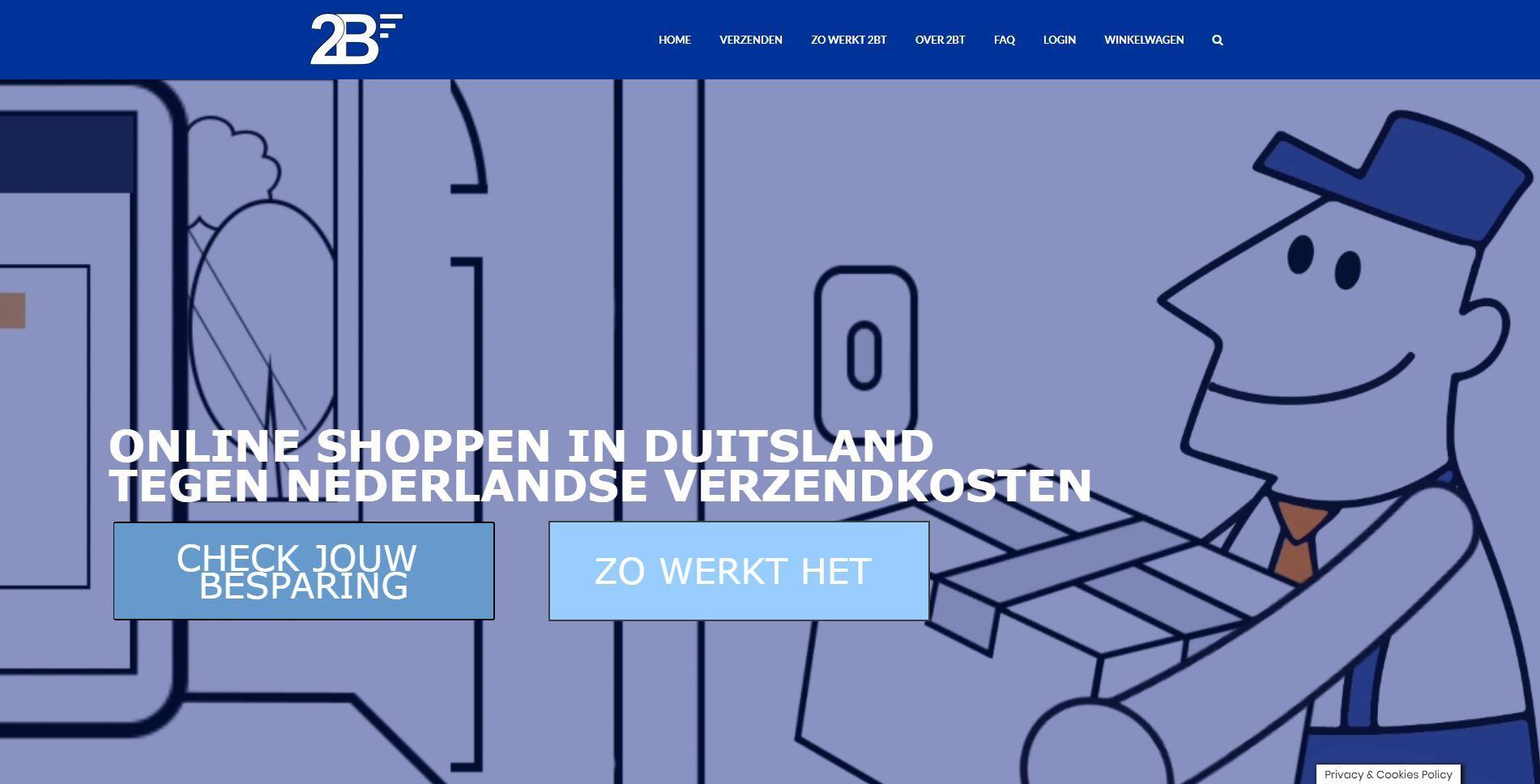website voor logistieke oplossing