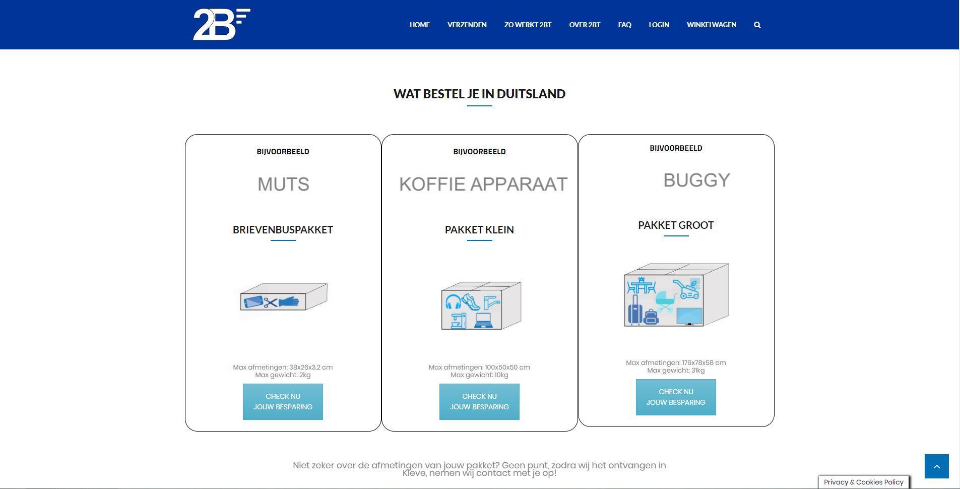 website voor transport bedrijf