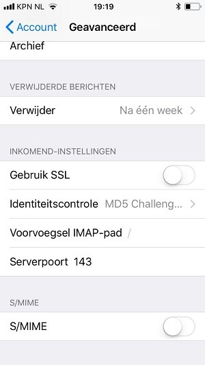 email account instellen op iphone 6