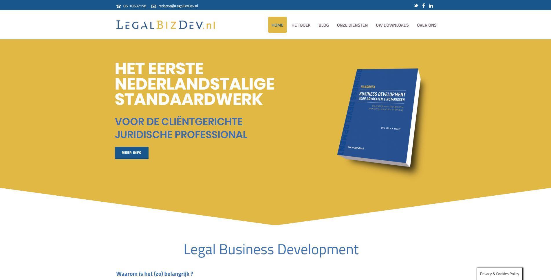 website voor advocaat