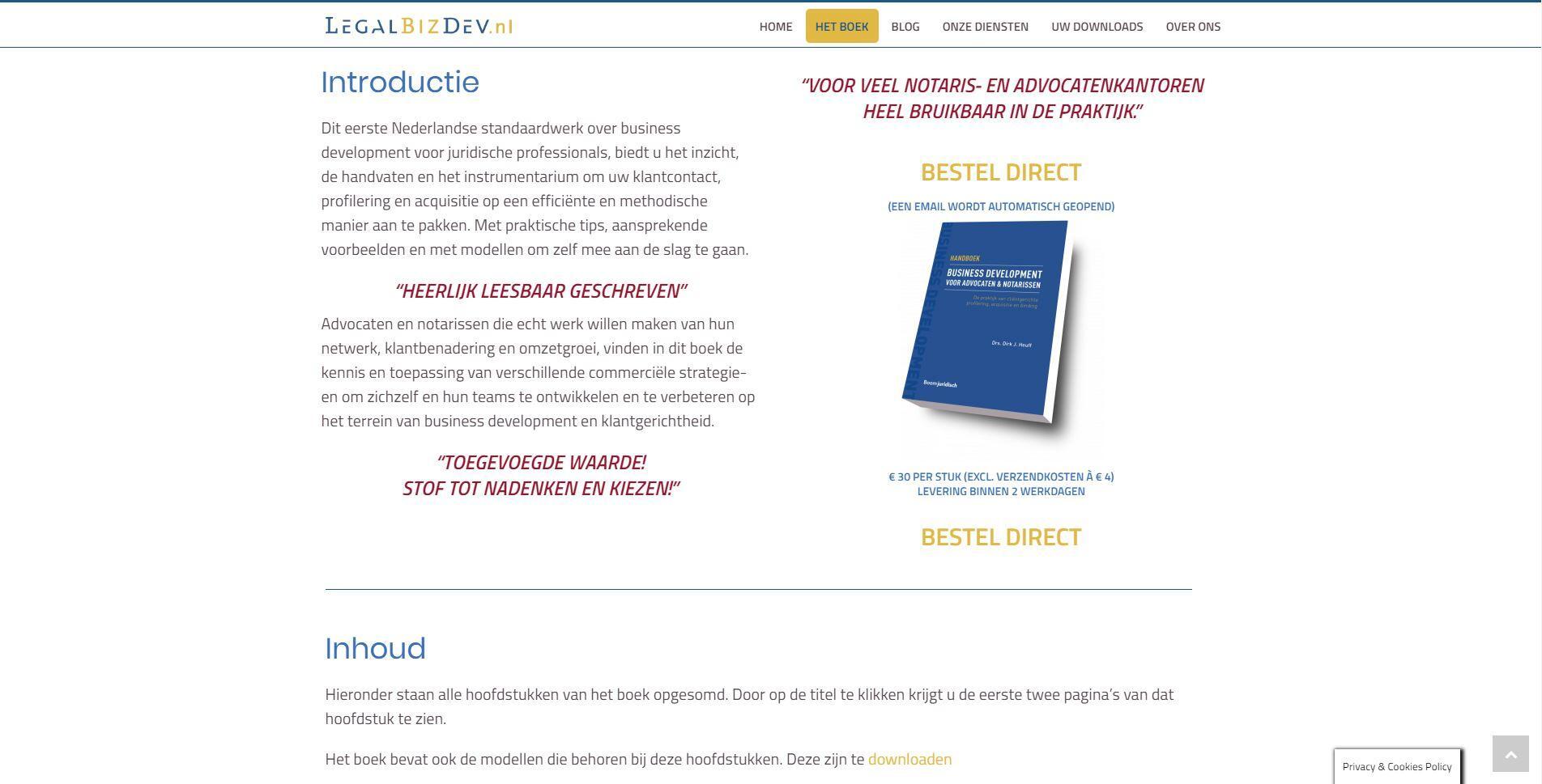 Boeken website