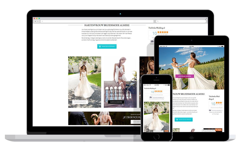 responsive website voor bruidsmodewinkel