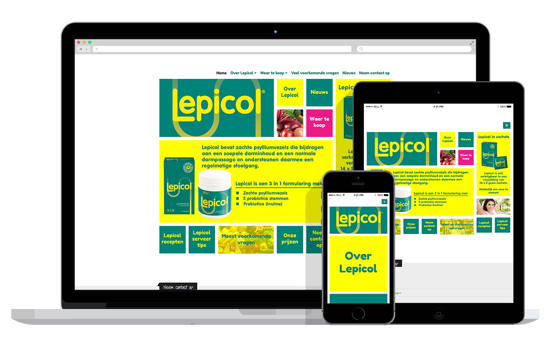responsive website voor voedingssupplementen