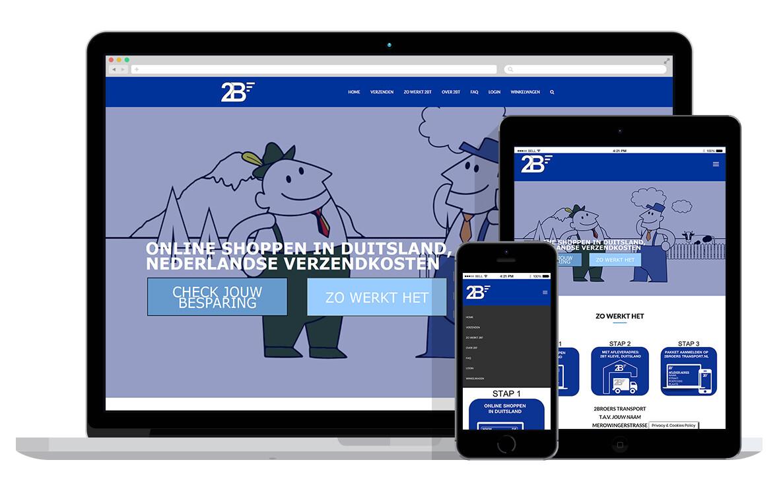 responsive website voor koerier