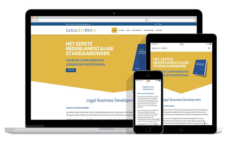 responsive wordpress website voor promotie van boek
