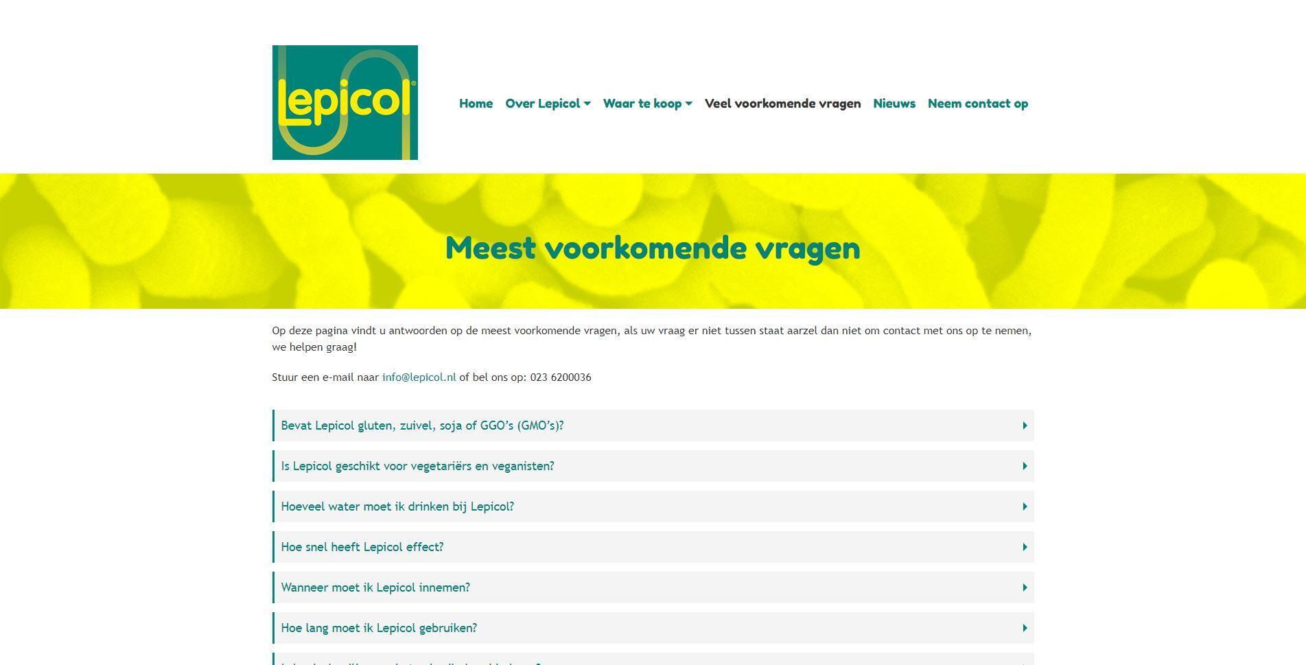 voedingssupplementen website