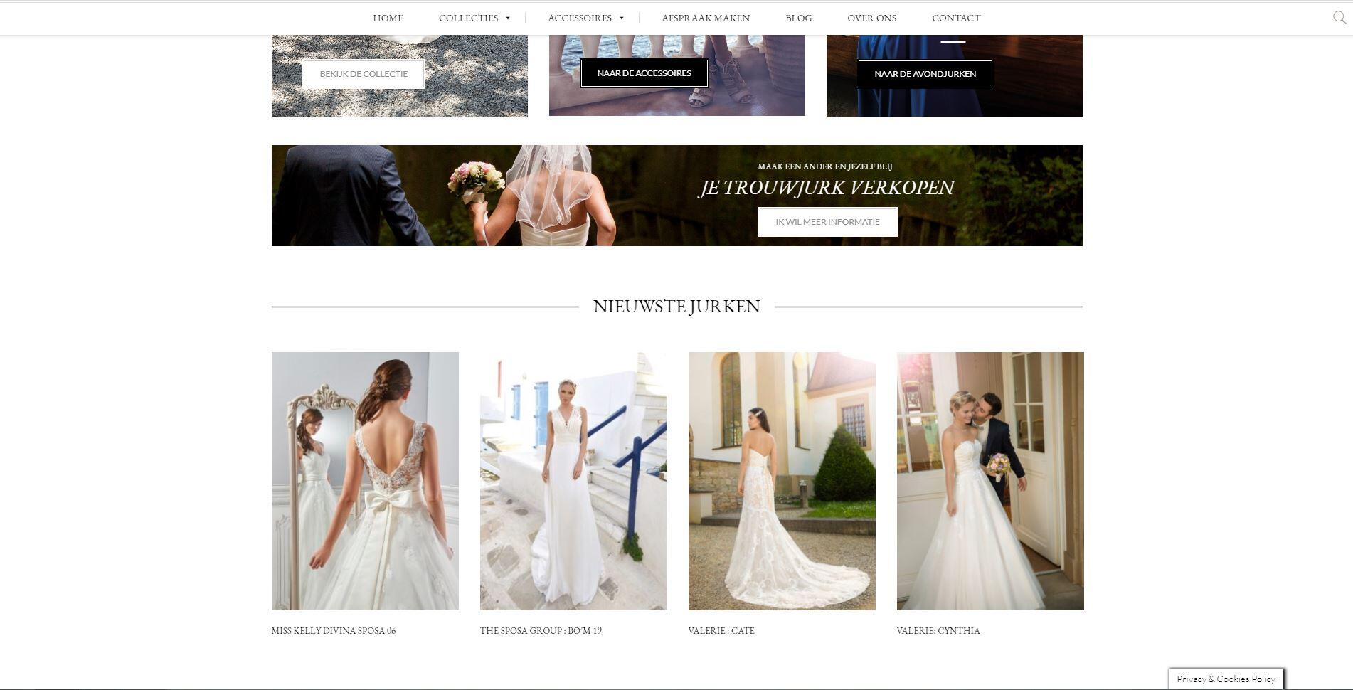 website laten maken voor een bruidsmode winkel