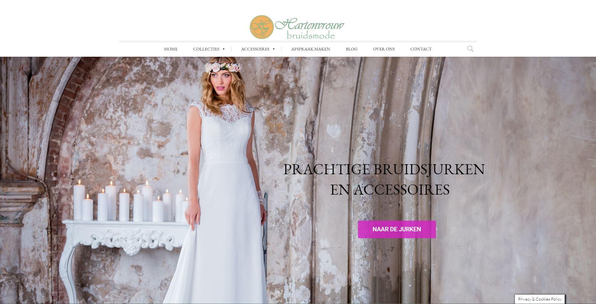 website voor een bruidsmode winkel