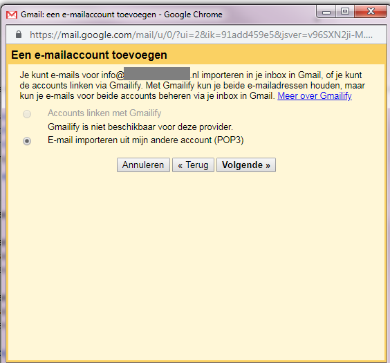 email account installeren in gmail