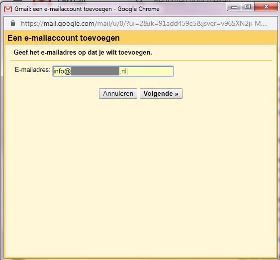 email account instellen in gmail