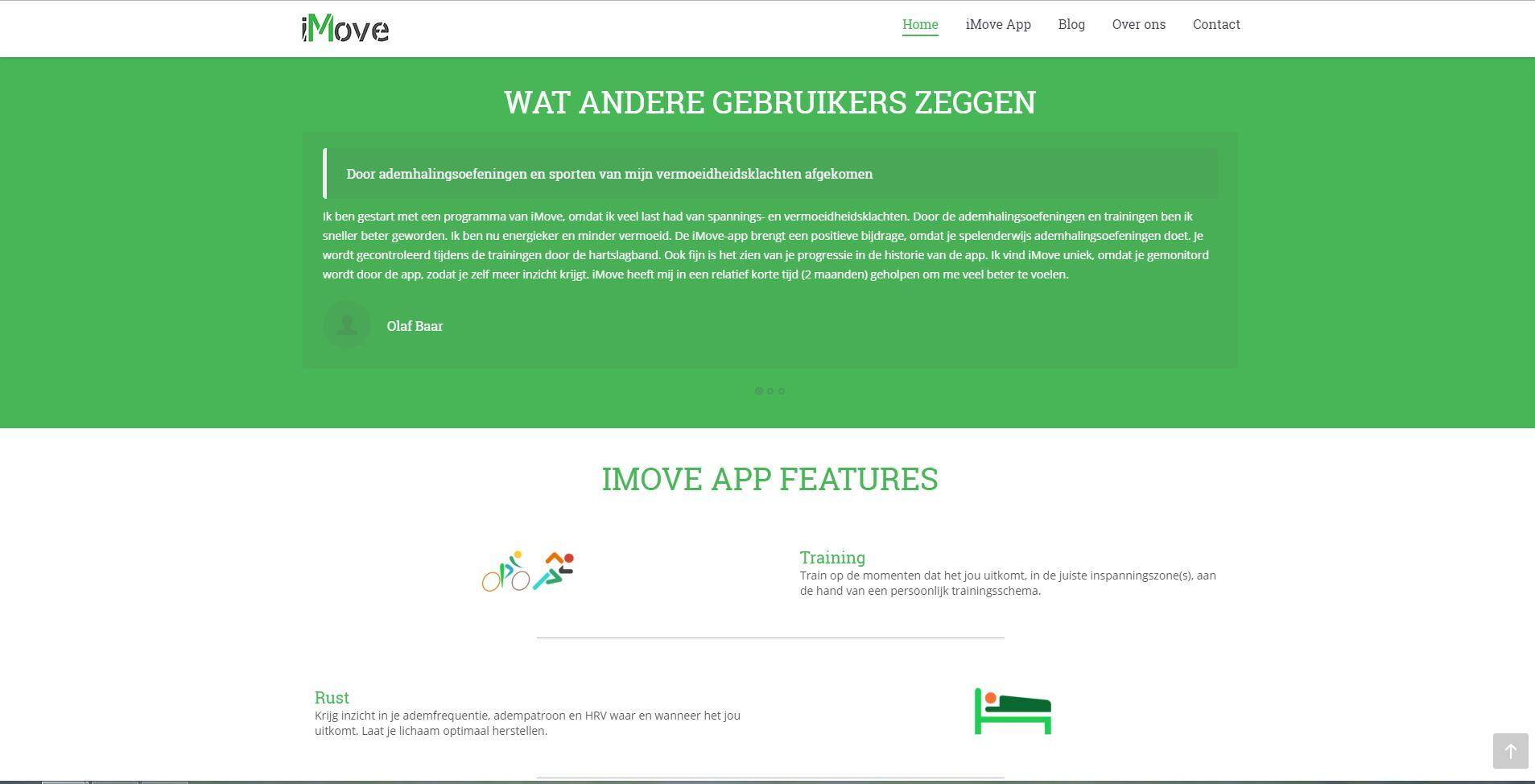 website voor personal trainer