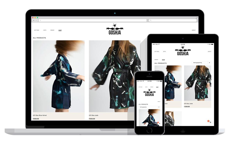 responsive webshop voor luxe kleding verkoop