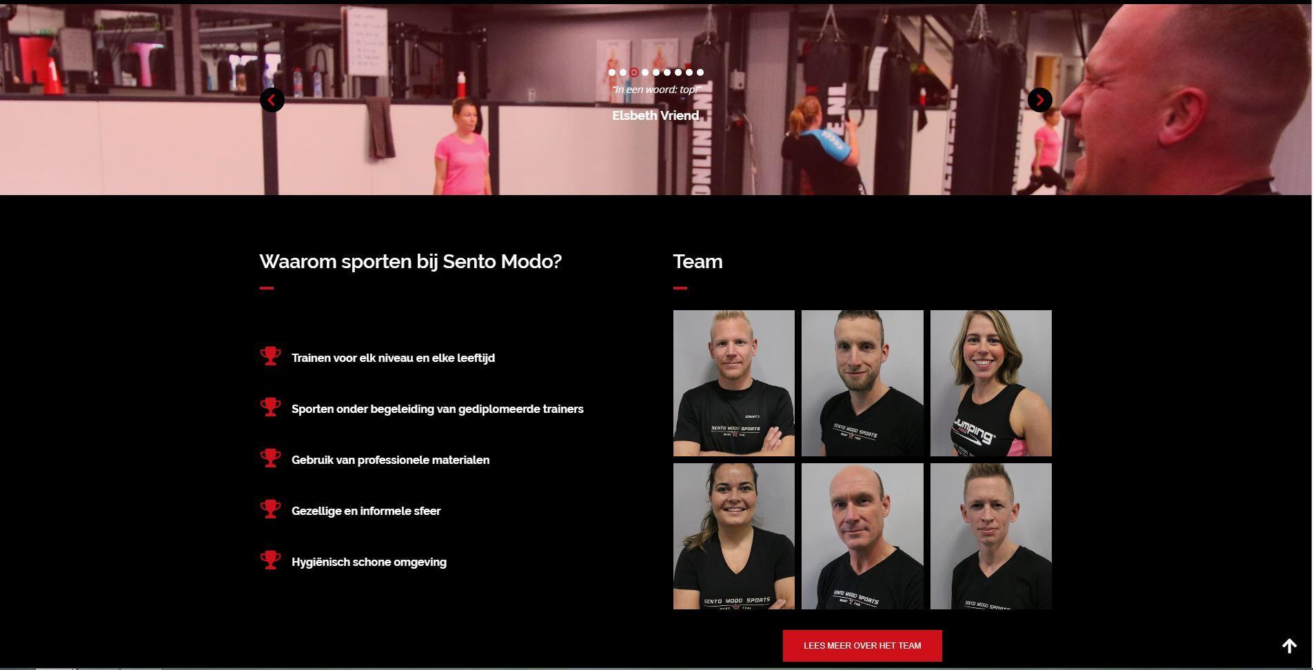 website voor sport school