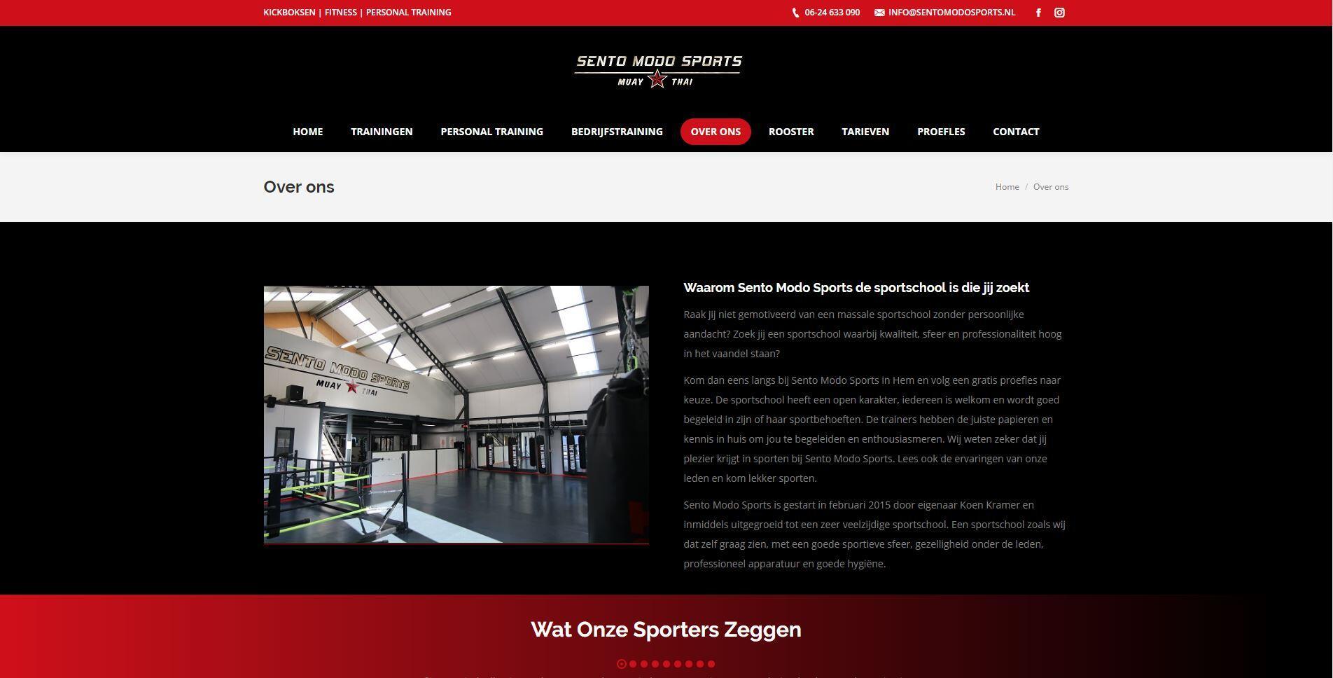 website voor sportschool laten maken