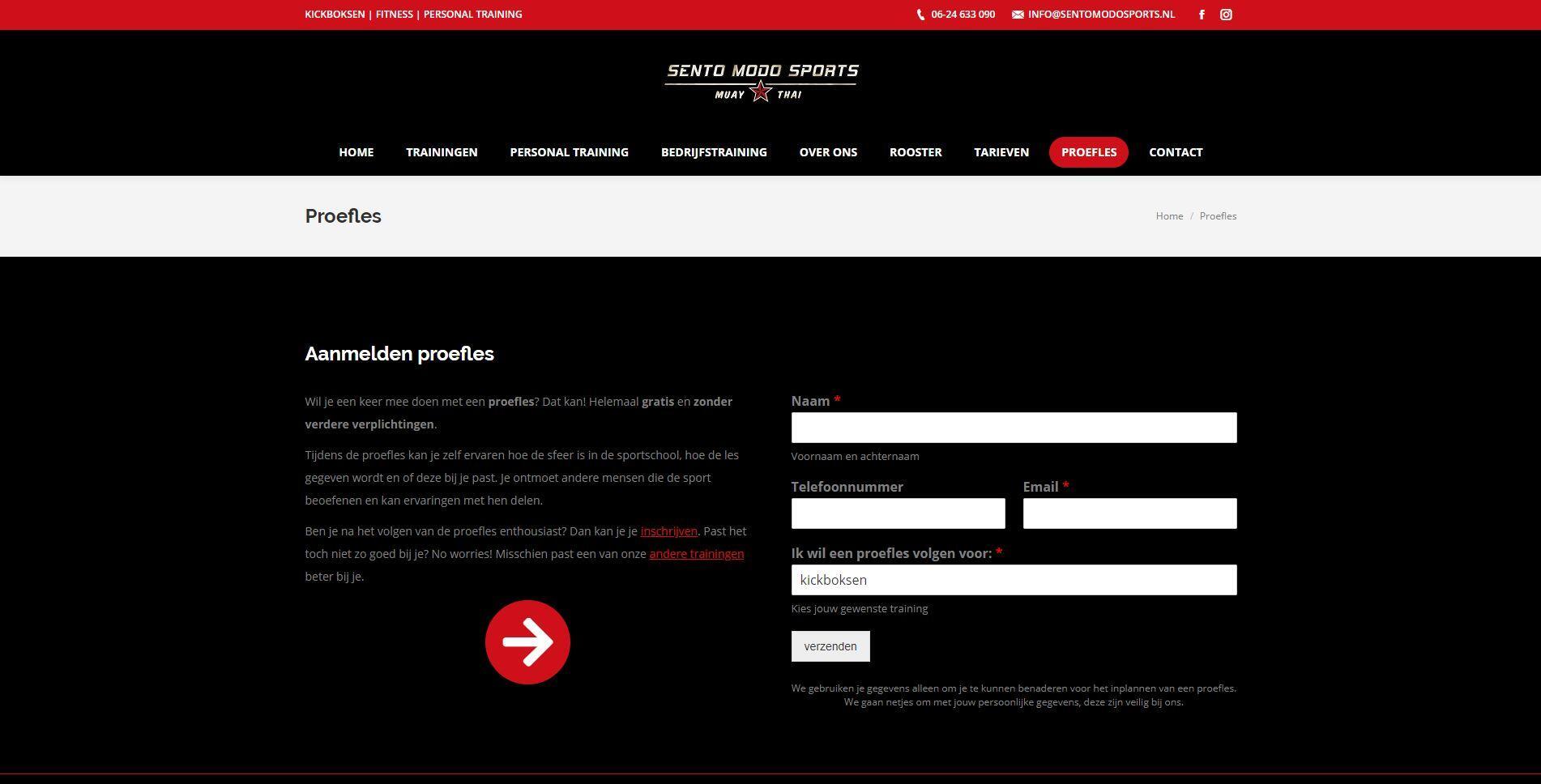 wordpress website voor sportschool laten maken