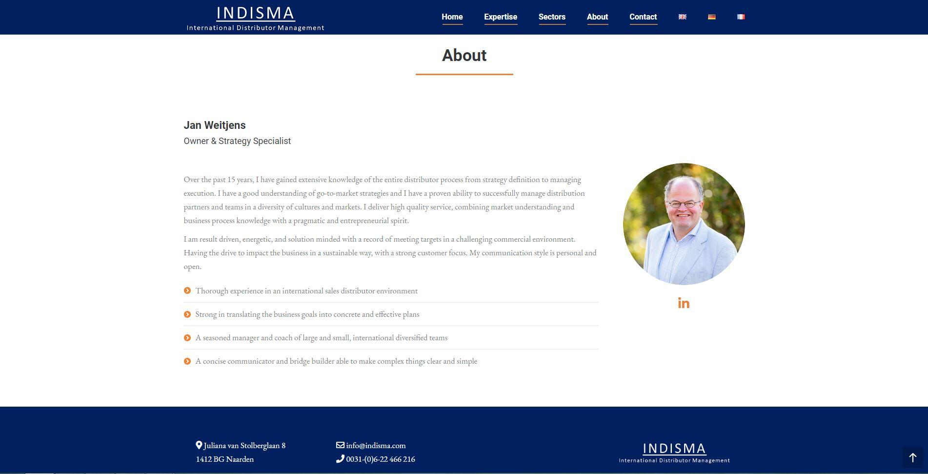 website voor adviesbureau
