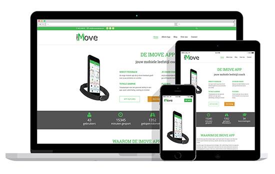 responsive website voor mobiele app