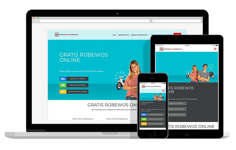 responsive website voor online theorie oefenen