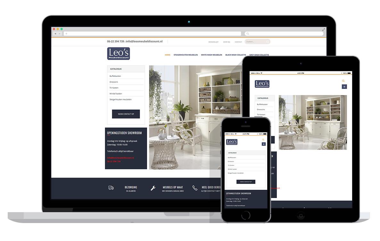 website voor meubel winkel