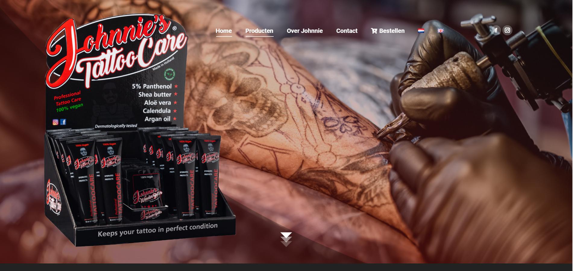 website laten maken voor tattoo verzorging