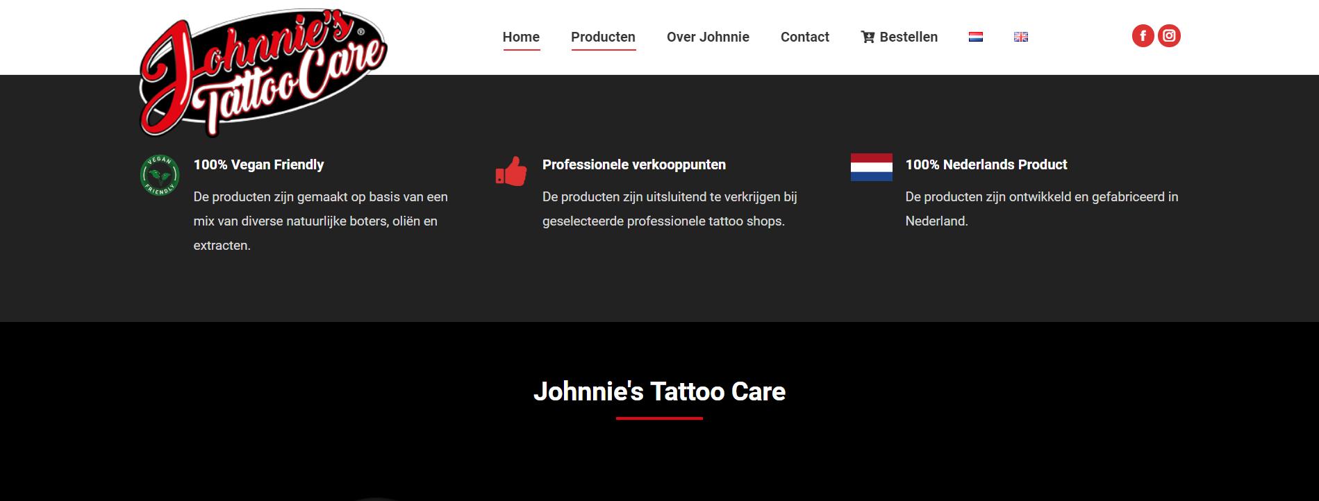 Tattoo Care Wordpress website