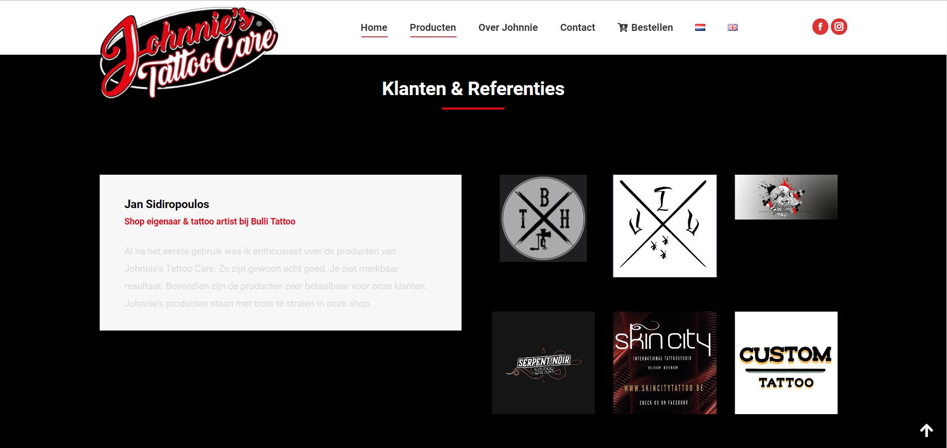 Wordpress website voor zalf en cremes